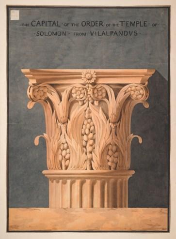 Charles Malton. Tempel des Salomon, Jerusalem, Kapitell, Juni/Oktober 1808 © Sir John Soane's Museum