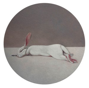 Shao Fan, Hare on the Moon, 2010 Öl auf Leinwand, Ø 210 cm © Shao Fan and Galerie Urs Meile, Beijing-Luzern 2018