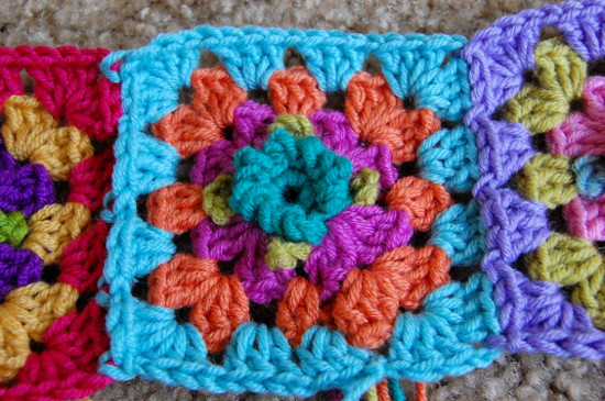 Granny Square Flower