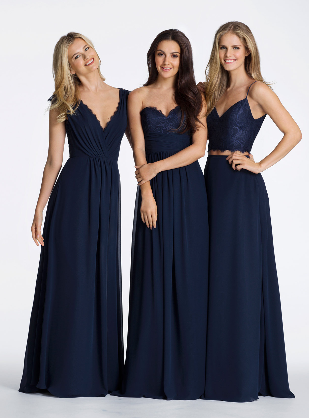 Fanciful Jim Hjelm Occasions Bridesmaid Chiffon A Line Draped V Neckline Lace Trim Cap Sheer Lace Back 5600 X3 Navy Blue Bridesmaid Dresses Near Turlock Ca Navy Blue Bridesmaid Dresses Tall Women wedding dress Navy Blue Bridesmaid Dresses