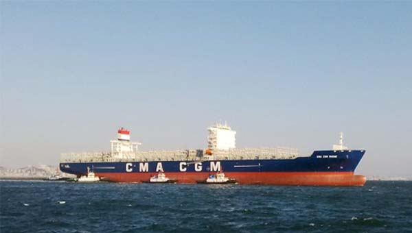 DALIAN SHIPYARD INDUSTRIAL COMPANY (PRC) Delivers new container vessel CMA CGM RHONE 9365 TEU with Fast Oil   Recovery System
