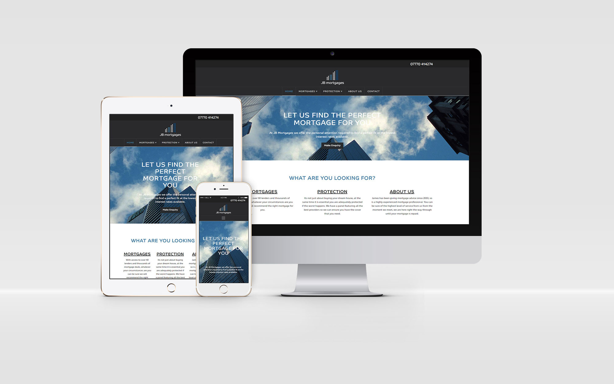 JB Mortgages Web Design Website Developer