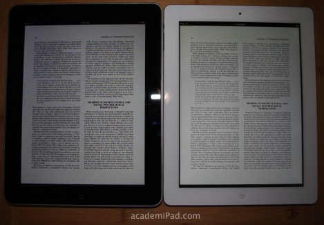 Comparing iPad 1 vs iPad 3