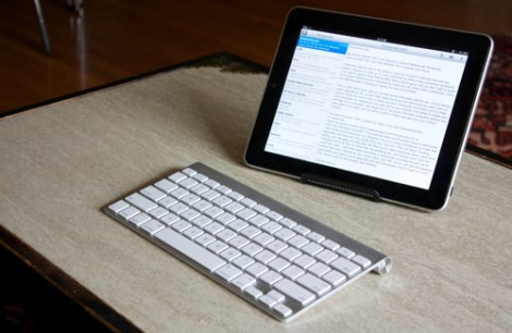 iPad with external keyboard