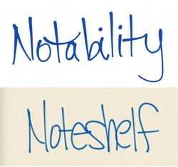handwriting comparison between notability and noteshelf