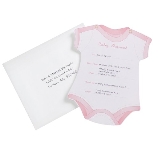 Medium Of Baby Girl Shower Invitations