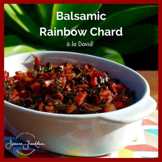 Balsamic Rainbow Chard