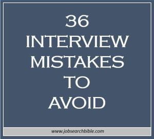 36 Interview Mistakes to Avoid