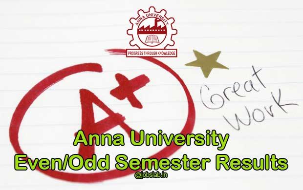 Anna University Results 2015-16 For Nov/Dec 2015 Jan 2016 UG PG Exam