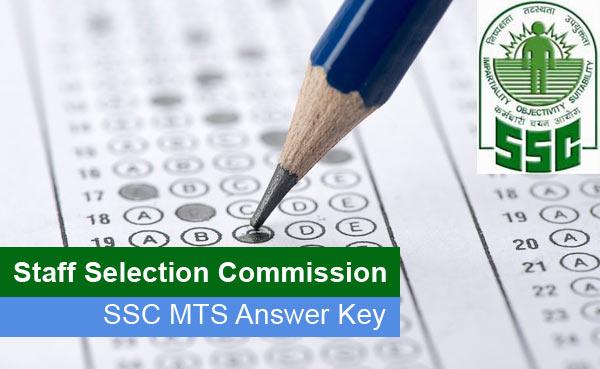 SSC MTS Answer Key 2015-16 Multitasking Answer Sheet Download PDF