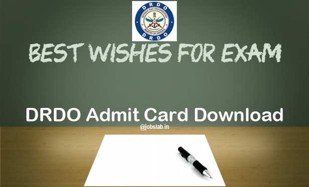 drdo-admit-card