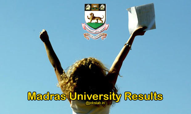 Madras University Results 2016 for UG, PG Degree Nov 2015 Exam