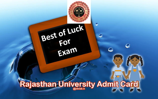 Rajasthan University Admit Card 2016 Download Uniraj Admit Card for UG PG Semester Exam