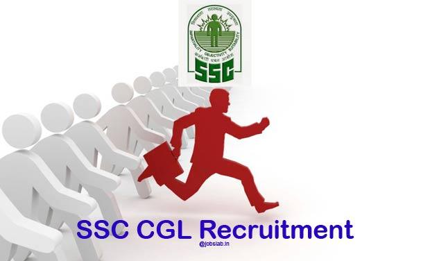SSC CGL Recruitment 2016 Notification, Online Application