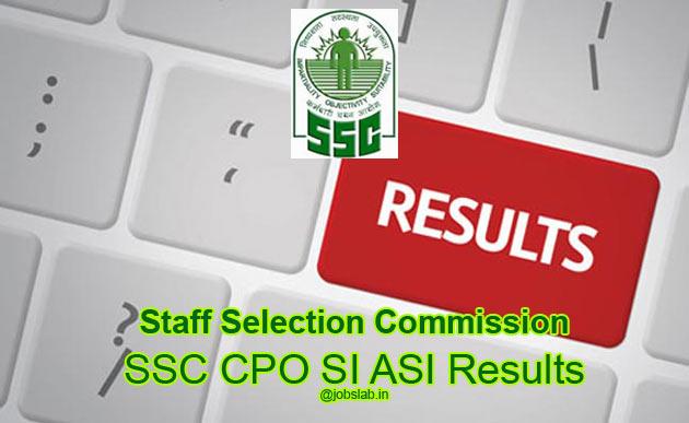 SSC CPO SI ASI Result 2016 Check Delhi Police SI ASI Merit List Cut Off
