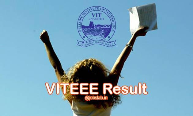 VITEEE Result 2016 - Score and Rank List by VIT University