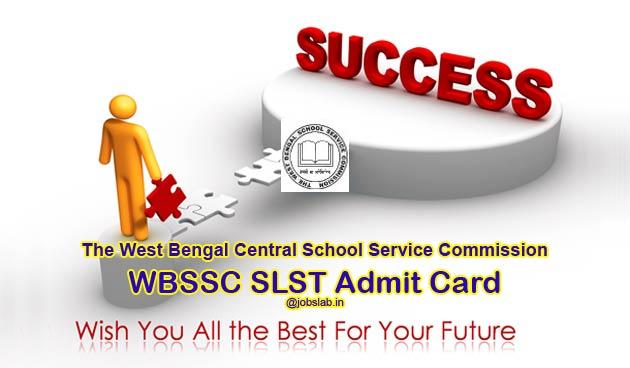 WBSSC SLST Admit Card 2016 Download Assistant Teachers Hall Ticket