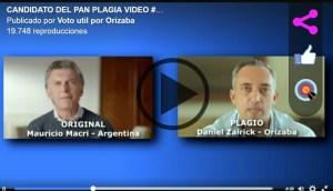 Difunden plagio del candidato del PAN en Orizaba, idéntico a Macri en Argentina