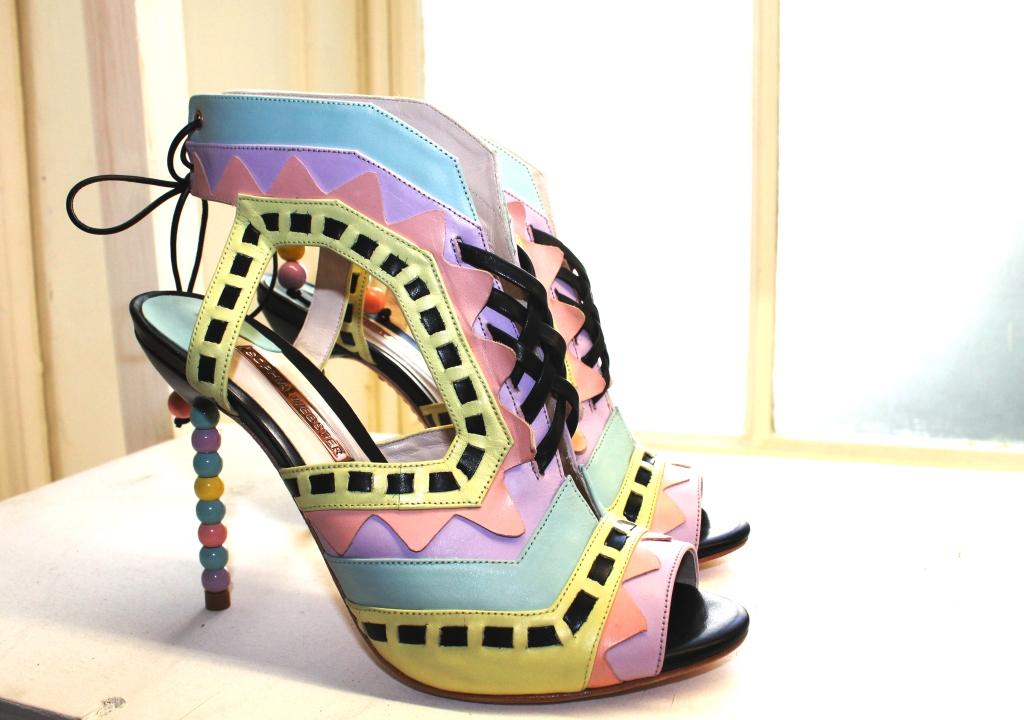 Sophia Webster pastel bead heel shoes