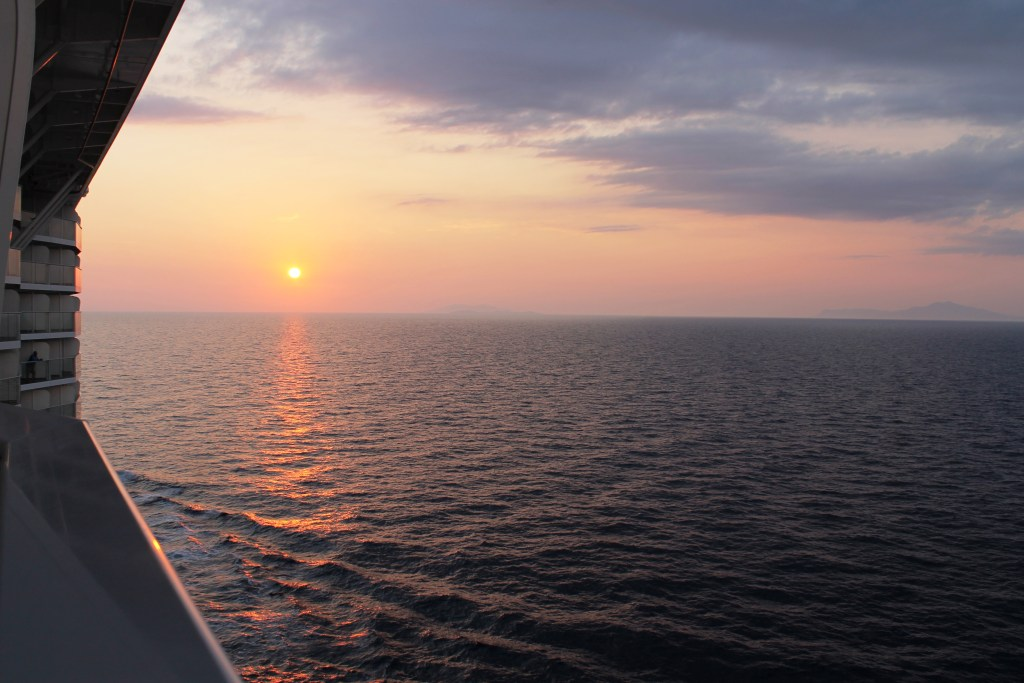 Sunset from Anthem of the Seas - Johanna Payton