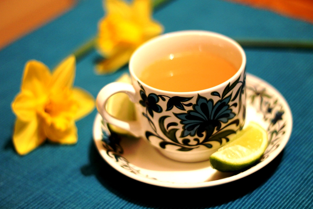 spring ginger tea - mocktail recipe