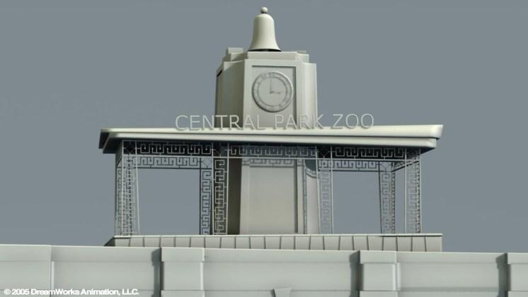 Central Park Zoo Entrance: Building Exterior Model Detail