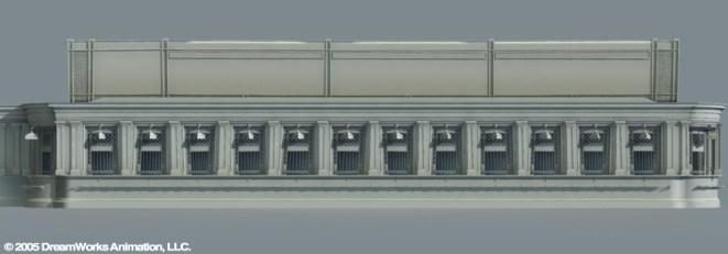 Grand Central Terminal Ticket Windows: Set Model