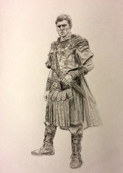 Commissioned Roman Soldier Drawing for RedditGetsDrawn