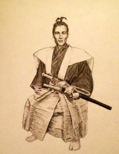 Commissioned Samurai Drawing for RedditGetsDrawn