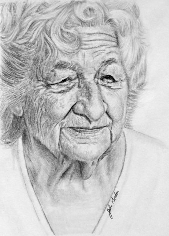Grandmother Drawing
