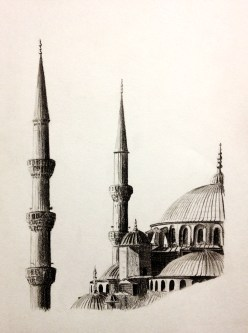 Blue Mosque Drawing