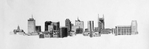 Nashville Skyline Drawing