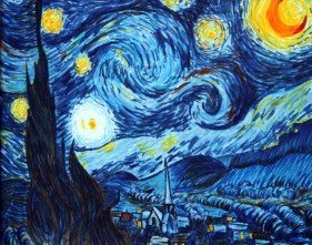 Starry Night Marker Drawing