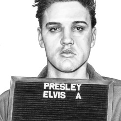 Elvis Mugshot Drawing by Artist John Gordon