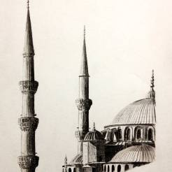 Istanbul-Turkey-Blue-Mosque-Drawing-by-John-Gordon