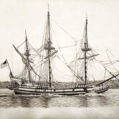 Kalmar-Nyckel-Tall-Ship-Drawing-1-by-John-Gordon