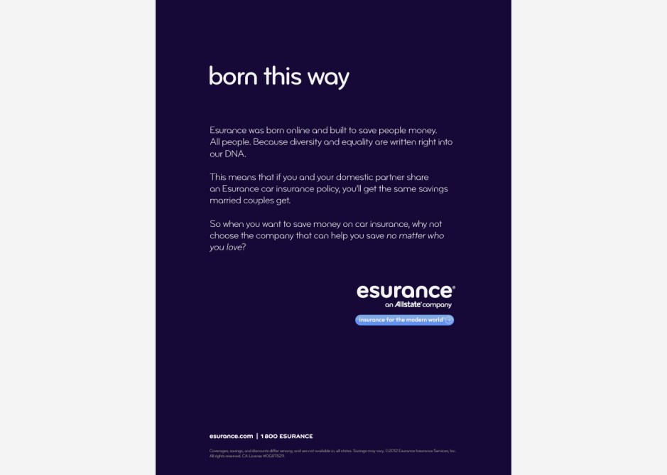 """born this way"" ad for EDGE Gay Media Network"