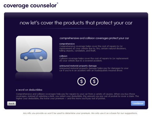 "Intro page for ""coverages that protect your car"""