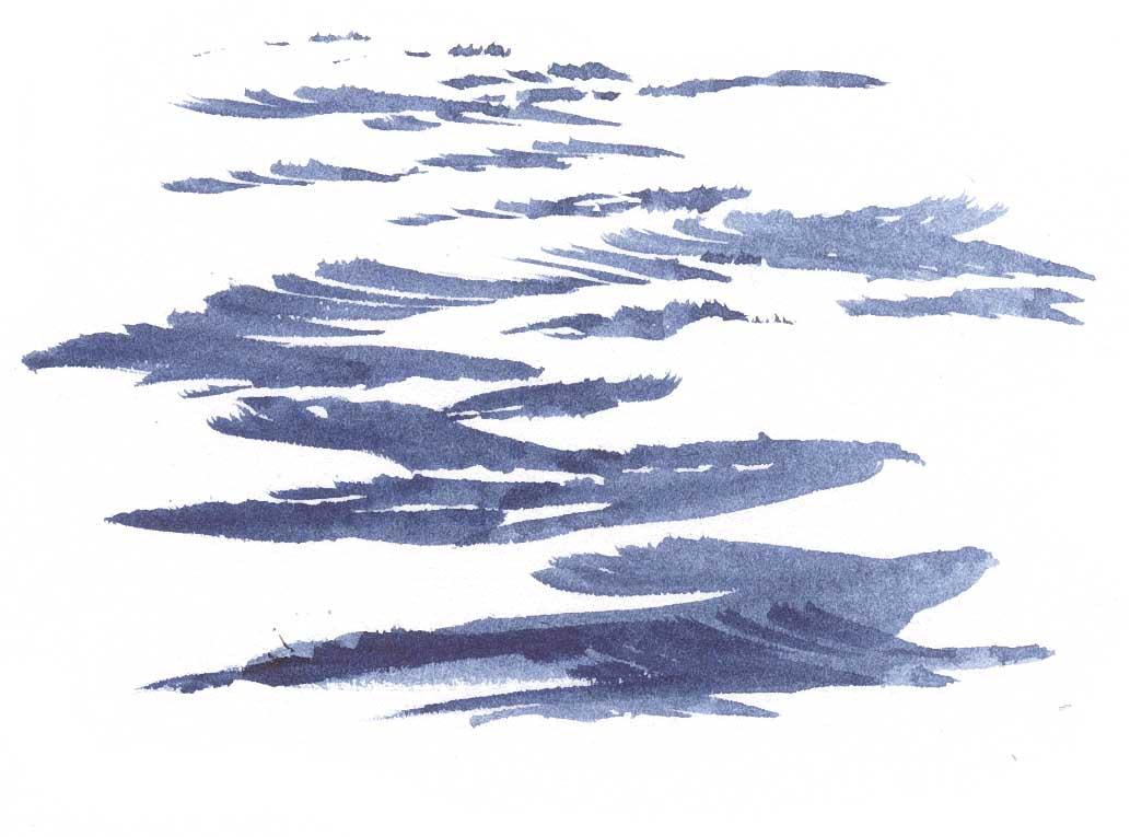 How to Draw Water  Open OceanOcean Water Drawing