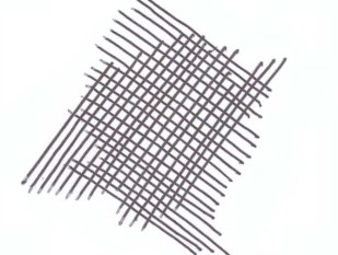 Avoid cross hatching at a right angle. This looks like a screen door and is distracting.