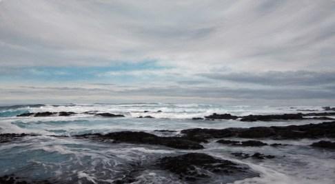 Painting of the seaside at Skoenies