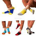 Mens Cotton Toe Five Finger Socks Solid Sports Breathable Low Cut Ankle Socks