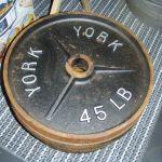 York 45 lb Olympic Plates