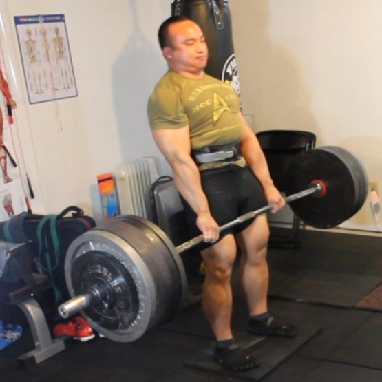 This was done on July 2, 2014. The last time I did deadlifts was in APRIL.