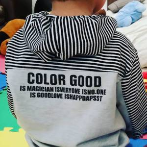 Back of my sons shirt engrish