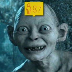 About 500 years off. Nice try, #HowOldRobot. #gollum #lotr #smeagol…