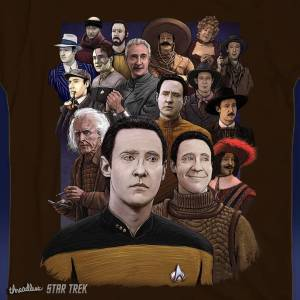 Sweet shirt via threadless httpswwwthreadlesscomdesignsfistfullofspiners startrek data lore startrektng BrentSpiner