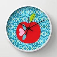Apple Clock Turquoise