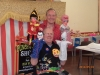 Len with Prof Ron Wood and Punch and Judy