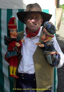 Punch and Judy puppets at a Georgian festival